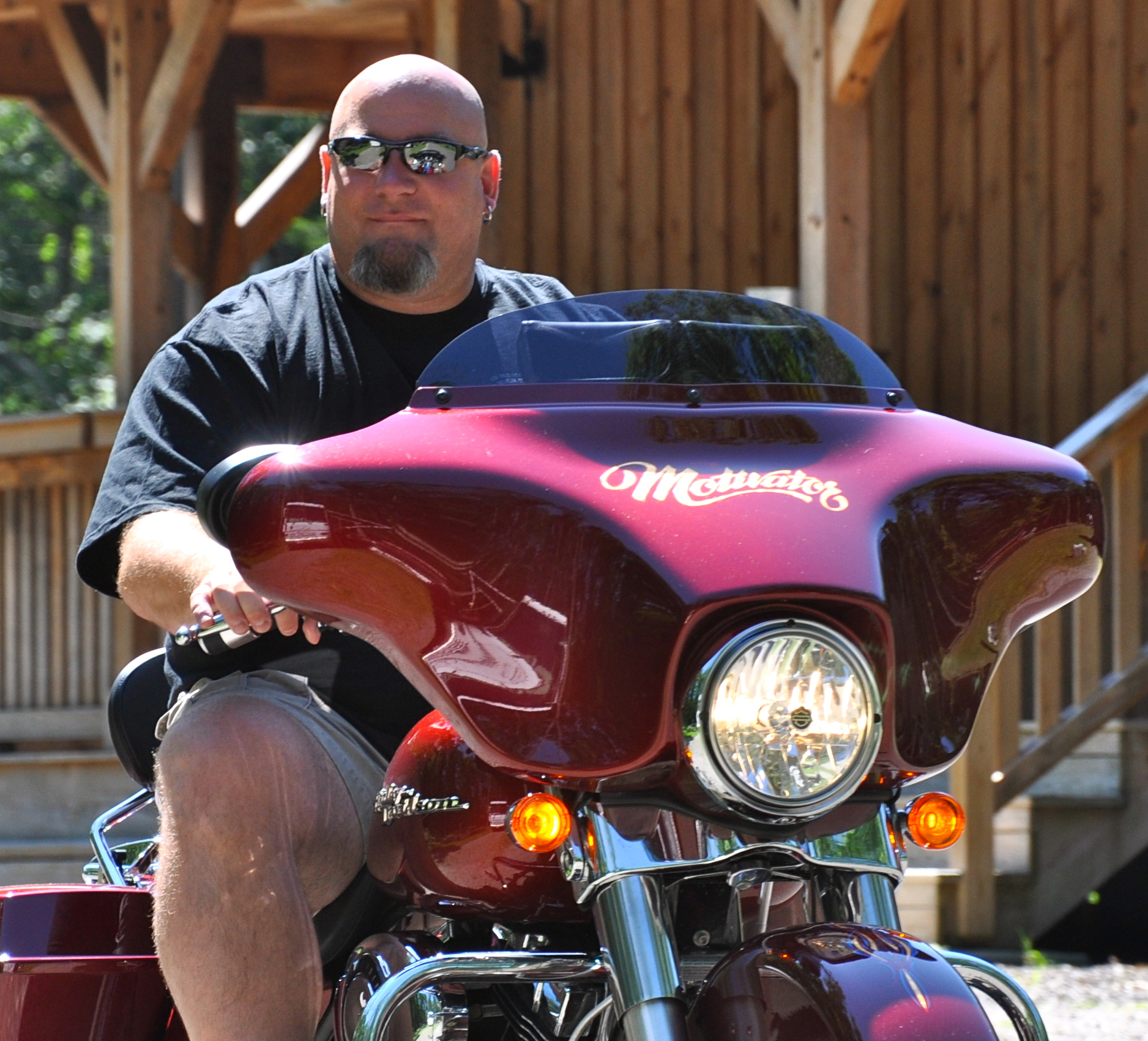 Jeff Yalden will lead a bunch of Harley Davidson riders on a ride to